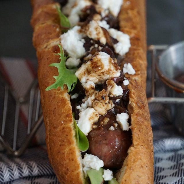 Hot Dog mit Jordan Feta